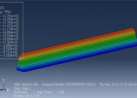 تحلیل خمش تیر در آباکوس