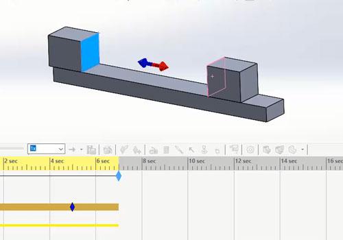 بررسی دستور force در محیط motion study سالیدورک