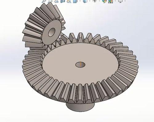شبیه سازی حرکت چرخ دنده در سالیدورک